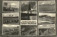 Cuxhaven Döse Duhnen Mehrbild AK um 1950 Kugelbake Robben Strandpartien Schiff