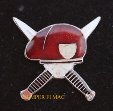 SOLDIER OF FORTUNE RED LAPEL HAT PIN US MILITARY SOF OMEGA French Foreign Legion