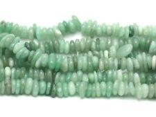 Fil 39cm 130pc env - Perles de Pierre - Aventurine verte Chips Palets Rondelles