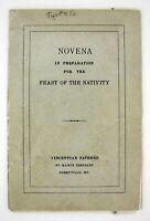 Vtg Christmas Novena Bklt Vincentian Fathers FEAST O/T NATIVITY Pope Pius XII