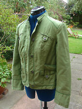 Principles size  12 fully lined cotton   fitted green jacket