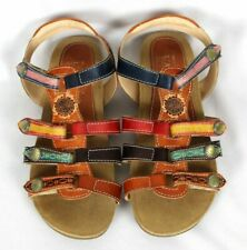 Spring Step L'Artiste GIPSY T-Strap Slingback Leather Sandals Sz 37 / US 6.5 7
