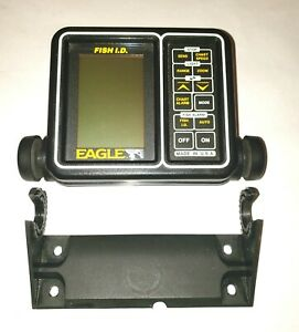 """EAGLE FISH FINDER """"FISH ID"""" head unit and bracket for parts"""