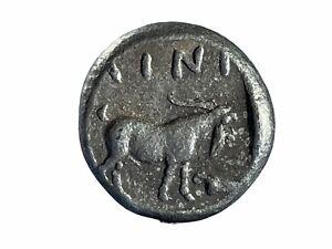 Ancient Greek AR Silver Tetradrachm Ainos Thrace Coin - 459-458 BC - 25MM 16.7GR