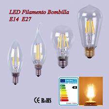 E14 E27 2-8W LED Edison Filamento Bombilla Estilo Vaso Vintage Vela Lámpara 220V