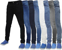 Men Denim Super Stretch Skinny Jeans Slim Fit Cotton Casual Pants Trouser Bottom