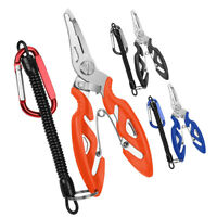 Mini Multi-function Curved Mouth Fishing Pliers + Fishing Tackle Spring Rope