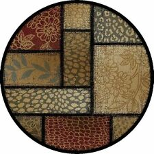 Patchwork Round Area Rugs