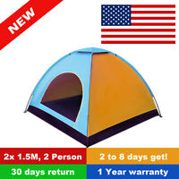Outdoor Camping Waterproof 4 Season 2 Person Folding Tent Hiking