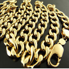 Fsa478 Genuine Real 18K Yellow G/F Gold Solid Mens Italian Heavy Necklace Chain