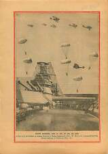 Parachutists Parachutes Air show Hendon England/USS California 1929 ILLUSTRATION