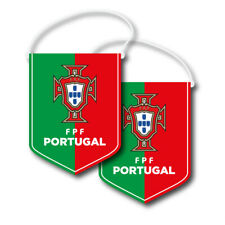Fpf Official Portugal Soccer National Team Set of 2 Pennants #08351