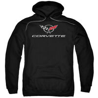 CHEVY CORVETTE MODERN EMBLEM Licensed Pullover Hooded Sweatshirt Hoodie SM-5XL