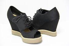 2017 Women's Summer Shoes Open Toe Wedges Platform Brand New Black Shoes Size 6