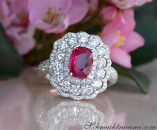 Nobelklasse: Erstklassiger Rubin Ring mit Brillanten, 2.70 ct. WG 750 ab 14200€