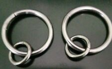 Pottery Barn Brushed Round Curtain Rings Set Of 8