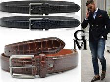 Cintura uomo vintage eco pelle effetto coccodrillo alligatore ITALY moda milano