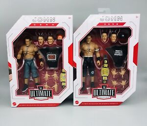 WWE Ultimate Edition John Cena *Set Of Two* Action Figures Mattel NEW