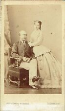 Photo cdv : Levitsky ; Prince et Princesse Christian d'Augustembourg , vers 1865