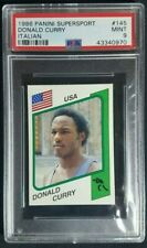 1986 Panini Supersport Italian Donald Curry Rookie Sticker RC PSA 9 Mint POP 3