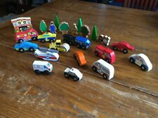Lot Of Melissa Doug Disney Wooden Emergency Vehicles Cars Firetruck Figures Wood