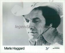 1980 Close Up of the Singer Merle Haggard Original News Service Photo