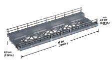 H0 escala 1:87 ho modelismo maqueta Puente Bridge Base Straight Noch 21340 18cm