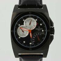 New Lancaster Men's Watch Italian Leather Stainless Steel Quartz 0344 Black