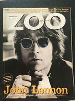 John Lennon on cover Greek magazine zoo April 1998 ,the Beatles, Animals,Burton