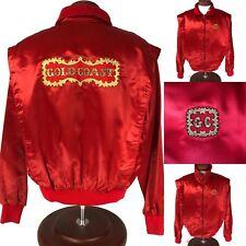 Vintage 80's Gold Coast Casino Jacket Mens XL Las Vegas Embroidered Satin