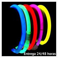 100 Pulseras luminosas glow + 100 conectores extra largos