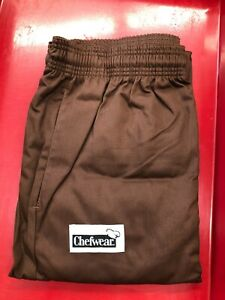 CHEF WEAR 3500 ULTIMATE PANT CHOCOLATE BROWN 100% COTTON  SIZE 5X  c