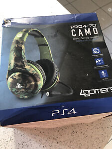 PS4 PRO4-70 GREEN CAMO Stereo Gaming Headset Playstation 4 PS4