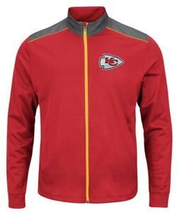 Kansas City Chiefs Full Zip Tech Team Track Jacket 6XL Embroidered Majestic NFL