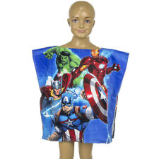 Official Licensed Marvel Avengers Velour Cotton Poncho Towels Boys Gift 2-6 Year