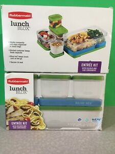 2 Complete Rubbermaid LunchBlox Entrée Kits Green For 1 Low Price
