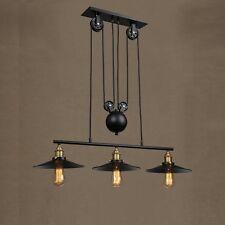 Modern Ceiling Light Black Industrial Chandelier Bar LED Lamp Pendant Lighting