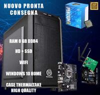 PC DESKTOP ASSEMBLATO | Intel Pentium - 8GB Ram DDR4 - SSD+HD | NUOVO WIN10HOME