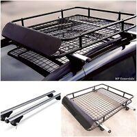 Universal 120cm Lockable Aluminium Car Roof Bars and Rack Tray for Raised Rails