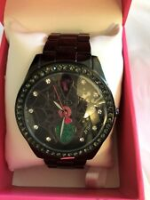 Betsey Johnson Women's Spider Watch Black Dial & Crystals 44mm BJ00249-58