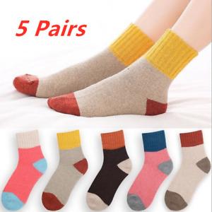 5 Pairs New Xmas Women Ladies Thick Winter Socks Warm Wool Nordic Novelty Socks