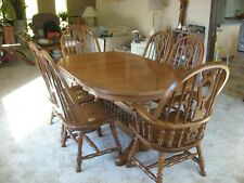 Richardson Brothers Oak Dining Room Set, China Hutch and Buffet