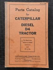 1943 Wwii Caterpillar D4 Diesel Track-Type Crawler Tractor Parts Catalog Manual