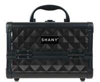 Shany Mini Train Make-Up  Case w Mirror Black