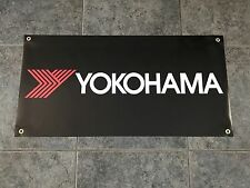 YOKOHAMA TIRES banner sign shop garage racing street off road track Advan JDM