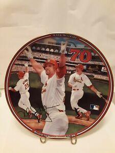 Vtg Mark McGwire Cardinals 1998 Home Run Hero Bradford Exchange Collector Plate