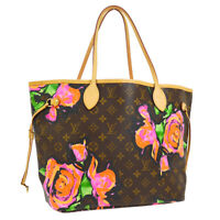LOUIS VUITTON NEVERFULL MM SHOULDER TOTE BAG MONOGRAM ROSE M48613 A46553j