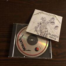 "Metallica ""...And Justice for All"" CD 1988 Elektra Original Issue Thrash Metal"