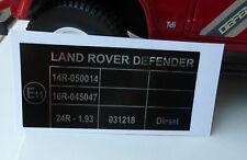 Land Rover Defender 90 110 TDI TD5 Seat Belt Fasten Label Decal BAC500820