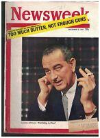 Newsweek Magazine December 3 1951 Lyndon Johnson Thomas Benton Audrey Hepburn